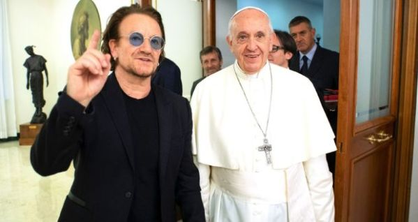 Bono and Pope