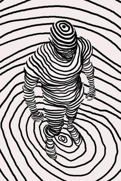 circles and man