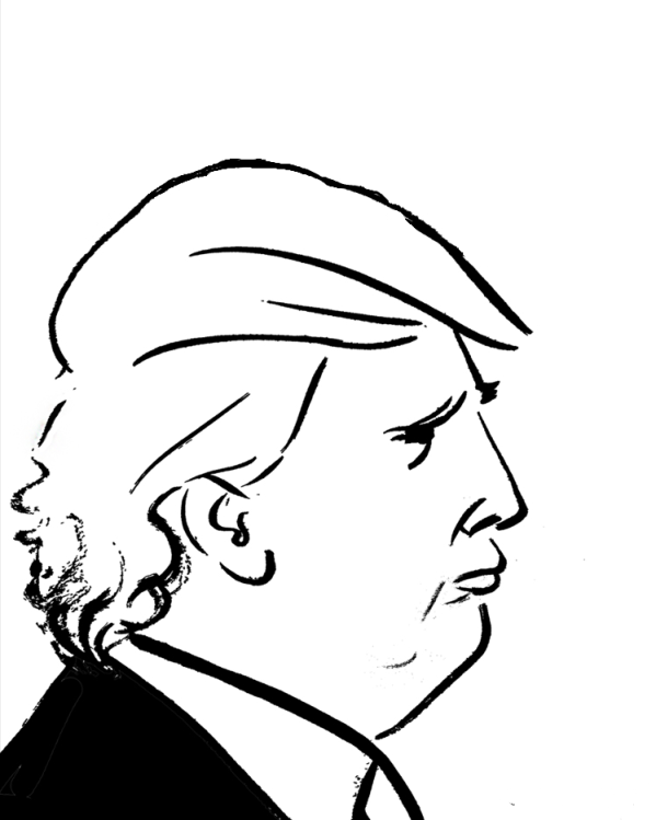 Trump Line Drawing