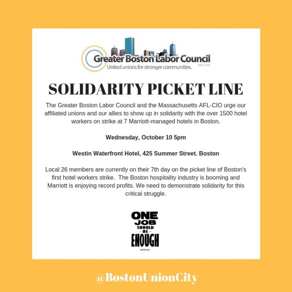 Solidarity Picket line