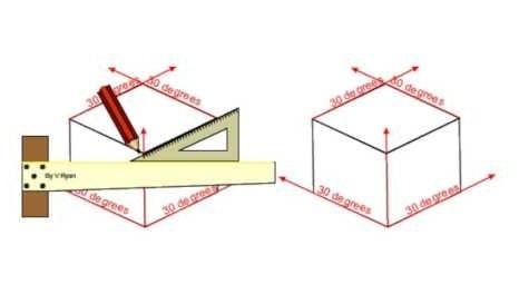 Isometric drafting board
