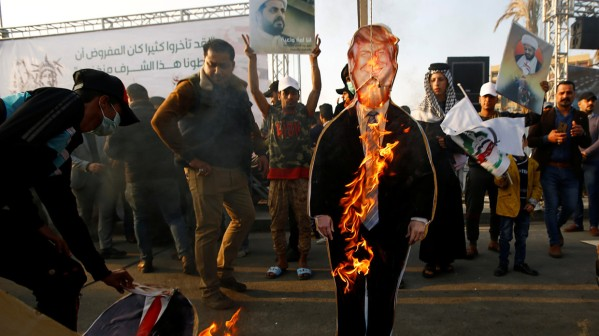 Trump Burns in Iraq