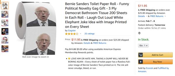 Sanders Toilet Paper