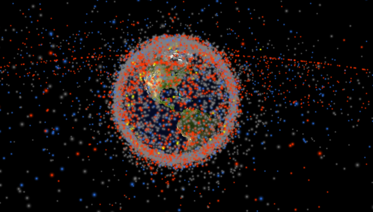 Satelites around the eardh